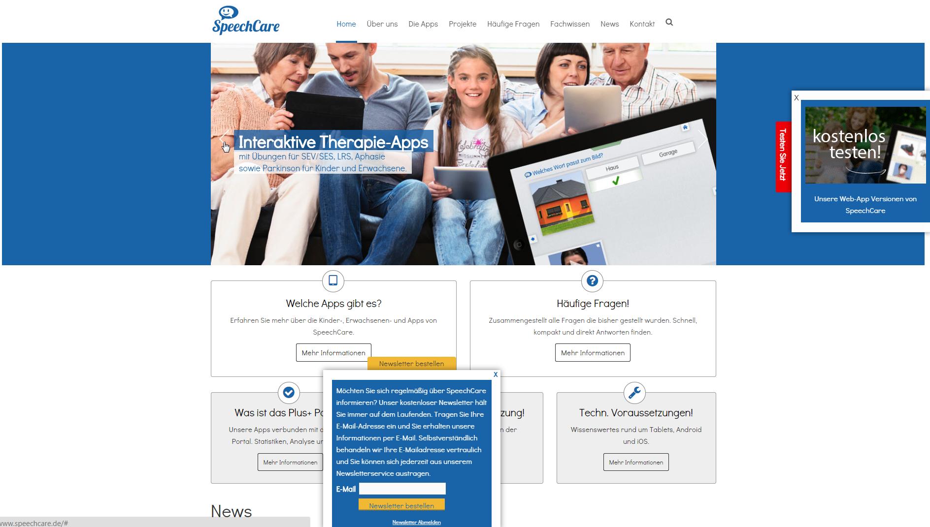 Relaunch der SpeechCare Website